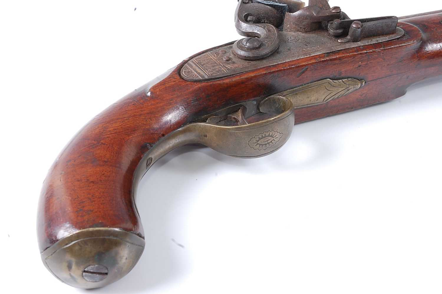 An early 19th century East India Company flintlock pistol, the 22cm barrel marked London, the - Image 7 of 7