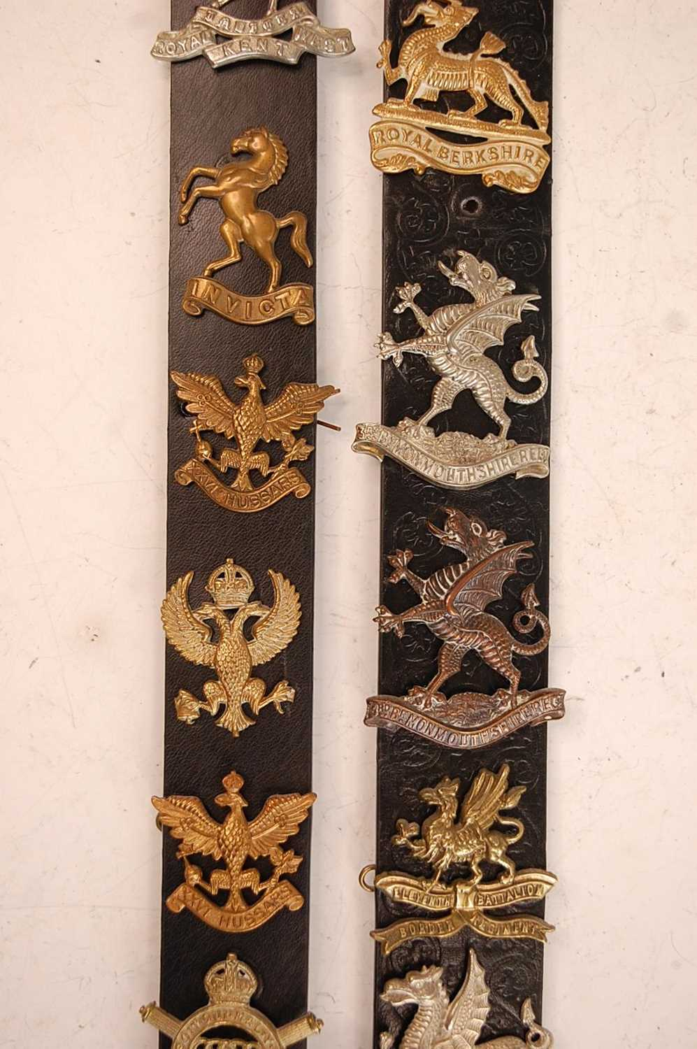A collection of cap badges and insignia to include 7/11th Hussars, 3rd King's Own Hussars, West - Image 4 of 7