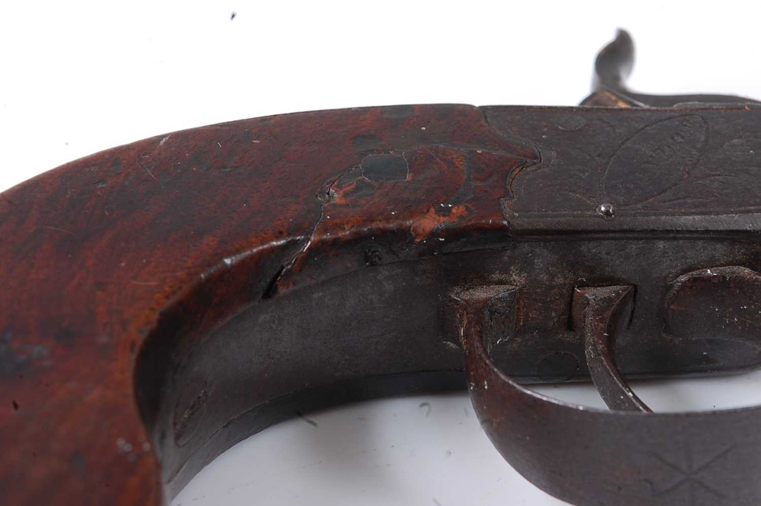 A pair of 19th century percussion box-lock pocket pistols by Durs Egg, each having a 4.5cm turn- - Image 6 of 7