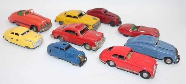 9 various loose tinplate saloons, to include Schuco, Bandai, Mini Models, and others, examples - Image 2 of 2