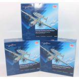 A Hobbymaster Ltd trade box containing 3 of 4 models no. HA4801 Northrop Grumman E-2C hawkeye