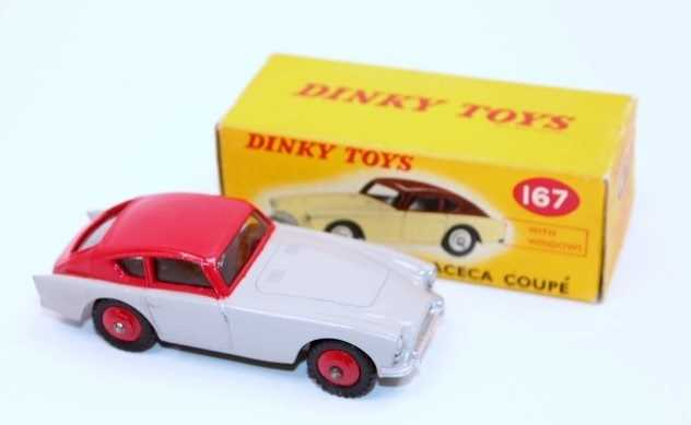 Dinky Toys No.167 Aceca Coupe in grey and red body with red hubs in the original correct colour spot - Image 2 of 3