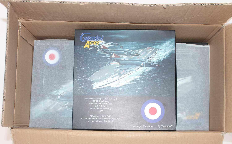 A part complete Gemini Aces trade box containing five of six 1:72 Mcdonald Douglas Phantom FG1 Royal - Image 2 of 2