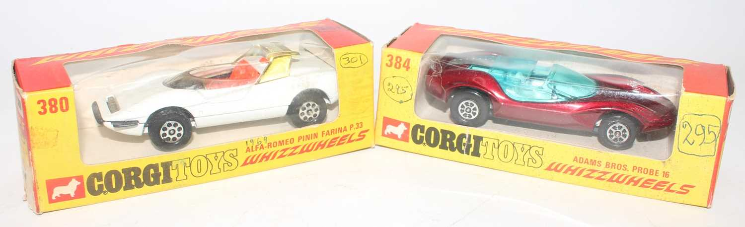 A Corgi Toys Whizz Wheels diecast group to include a No. 384 Adams Brothers Probe 16 race car