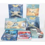 A collection of mixed scale Corgi Aviation Archive and Airfix diecast and plastic kits, all housed