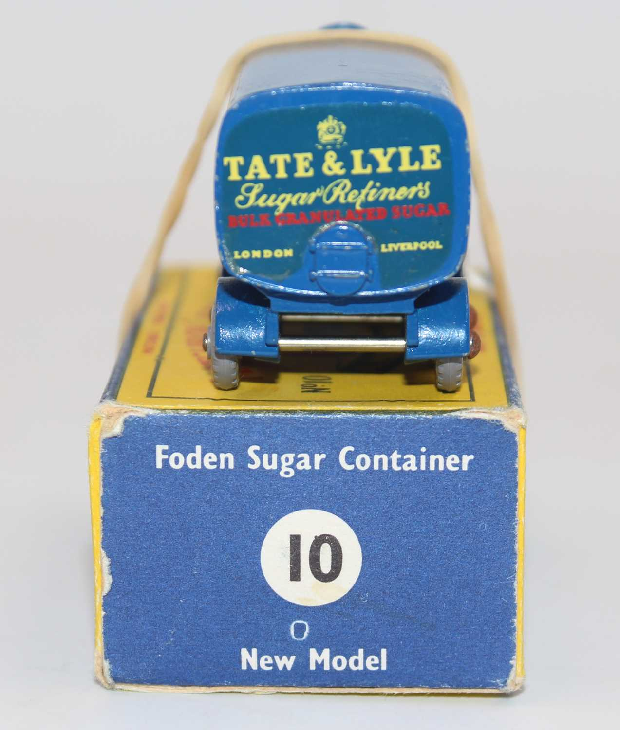 """Matchbox 1-75 Series No.10C Foden Sugar Container """"Tate & Lyle"""" in blue, with rear crown, silver - Image 3 of 3"""