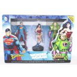 An Eagle Moss Masterpiece collection, 3 piece DC comics gift set containing Superman, Wonderwoman