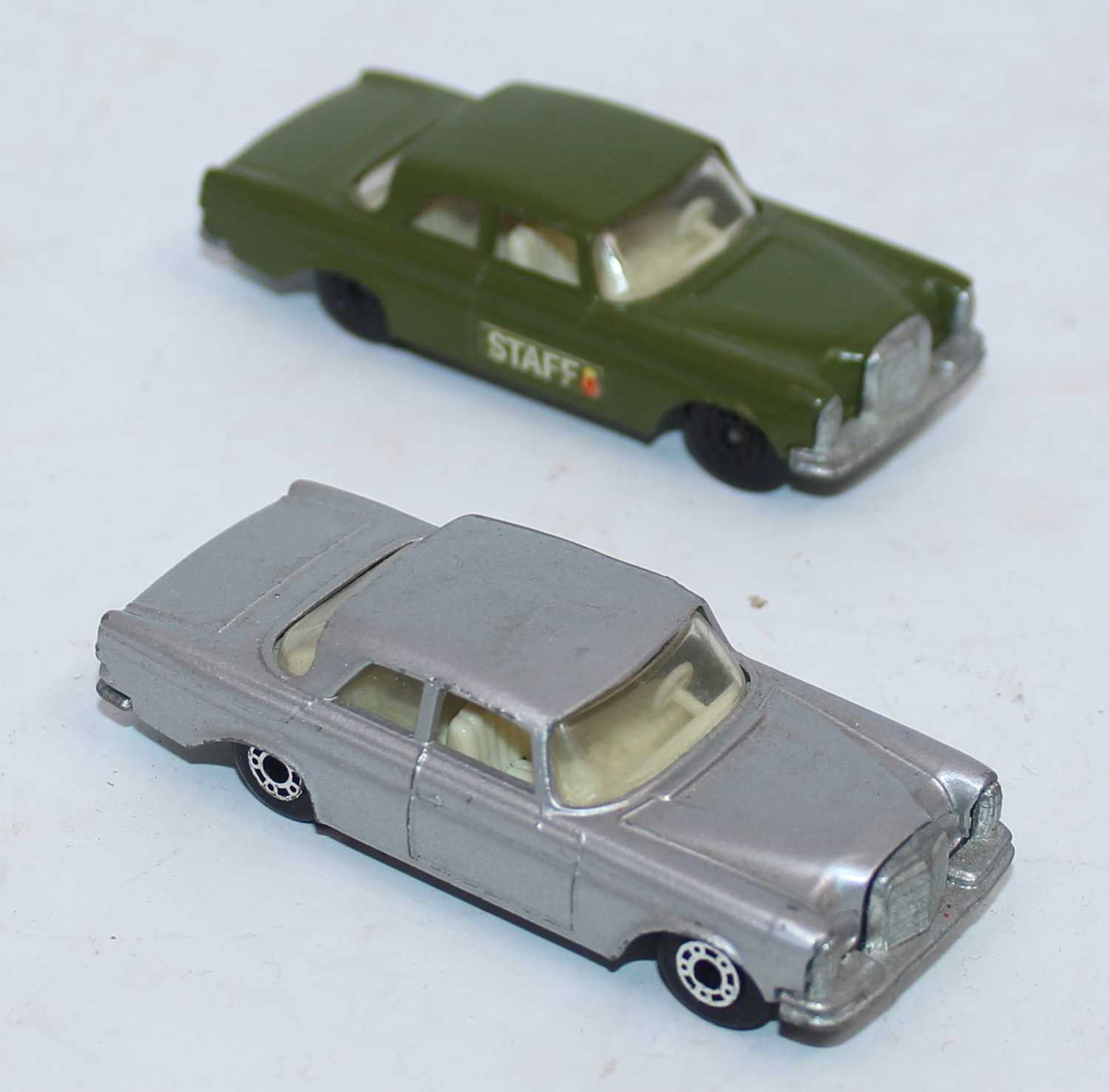 Matchbox group of 2 Mercedes 300SE late superfast Tesco Value Pack models, one in silver and the - Image 2 of 2