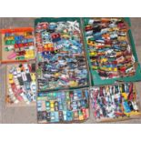 A very large quantity of 350+ mixed loose diecast models, mainly Matchbox, Corgi models plus other