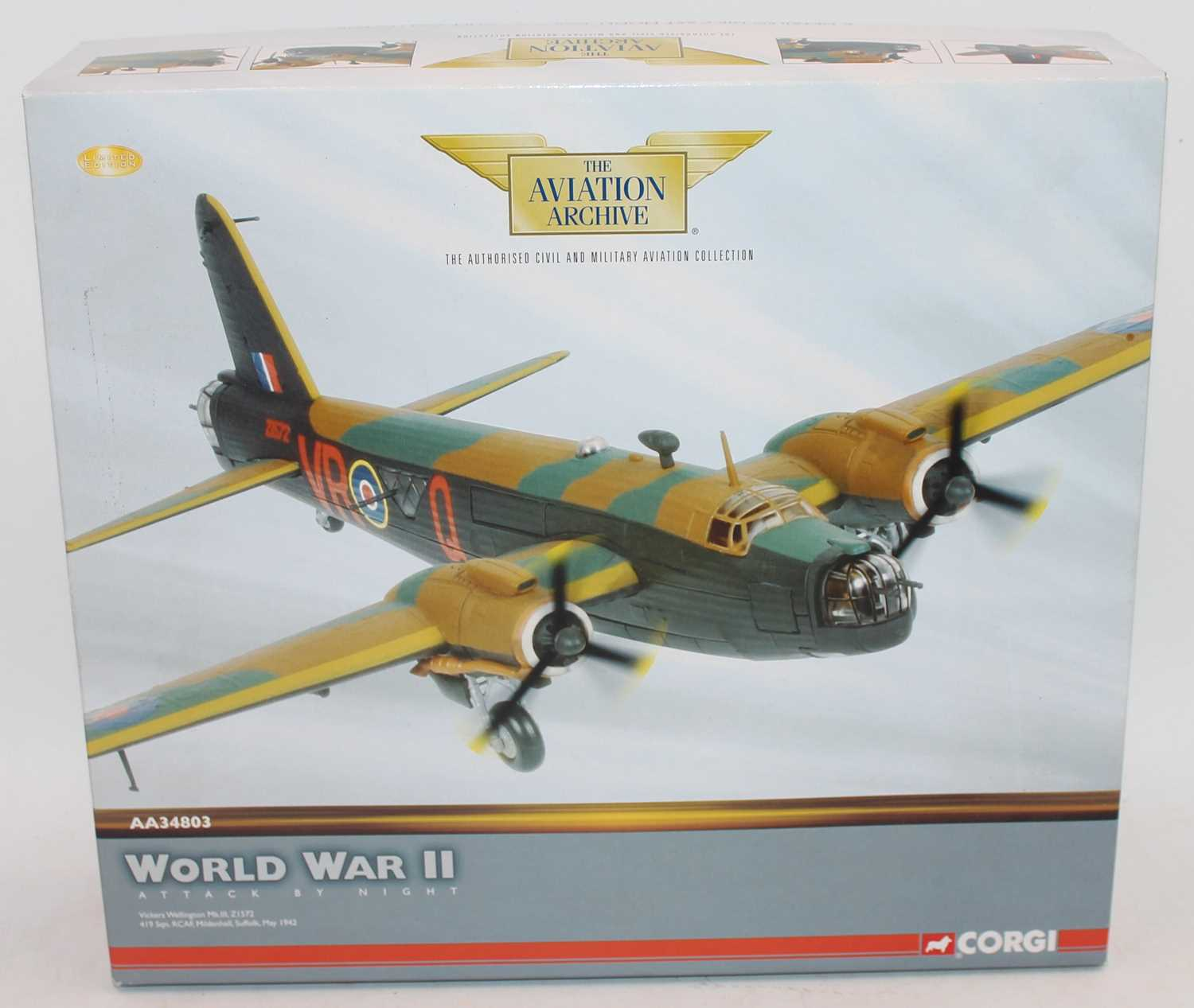 A Corgi Aviation Archive model No. AA34803 limited edition diecast model of a Vickers Wellington
