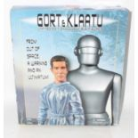 An Amoktime limited edition release Gort and Klaatu action figure gift set, housed in the original