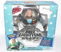 A Sinkway Toys of New York Disney's Toy Story Buzz lightyear intergalactic action figure housed in