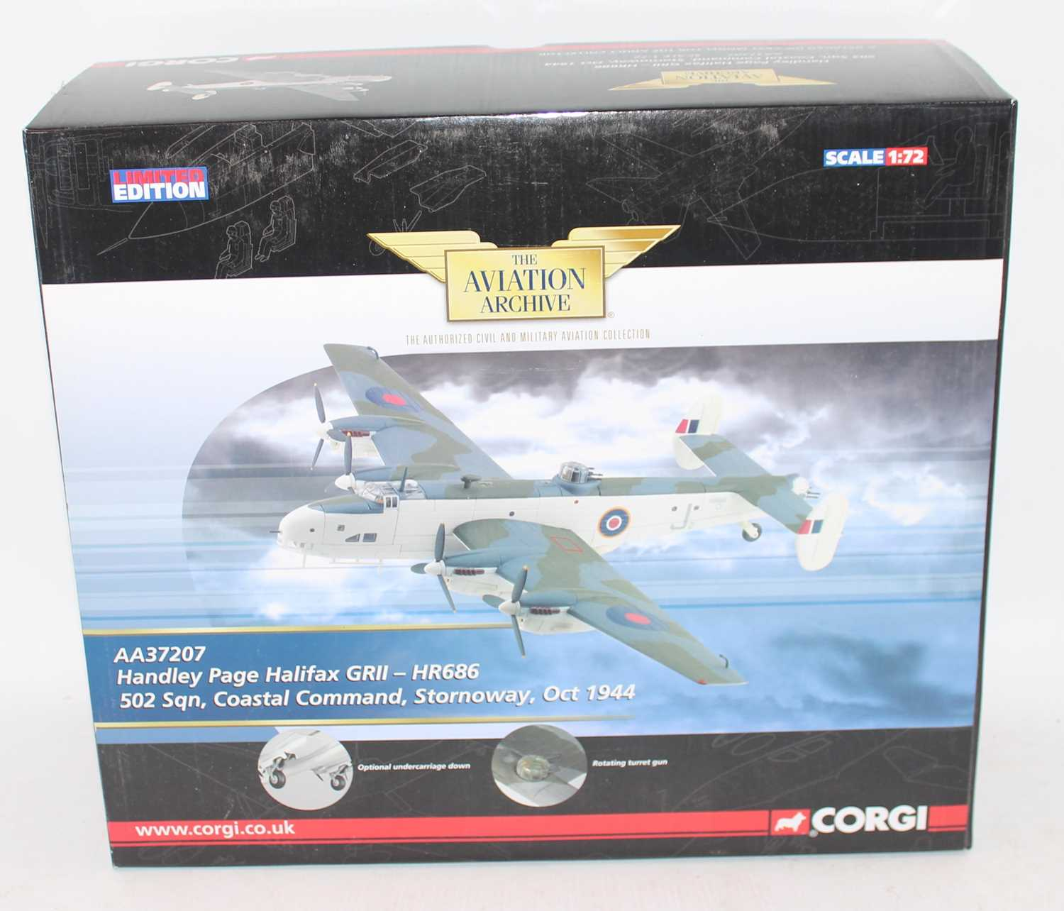 A Corgi Aviation Archive model No. AA37207 1/72 scale limited edition model of a Handley Page