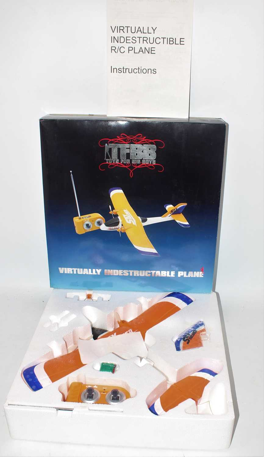 Toys for Big Boys boxed radio controlled Virtually Indestructible Sky Soldier Plane housed in the