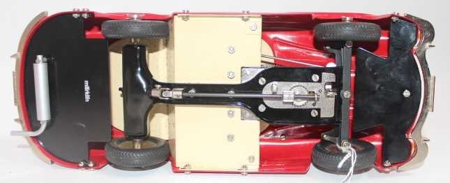 Marklin, large scale tinplate clockwork Mercedes 300SL Sports Car, red, opening gull-wing doors, - Image 3 of 3