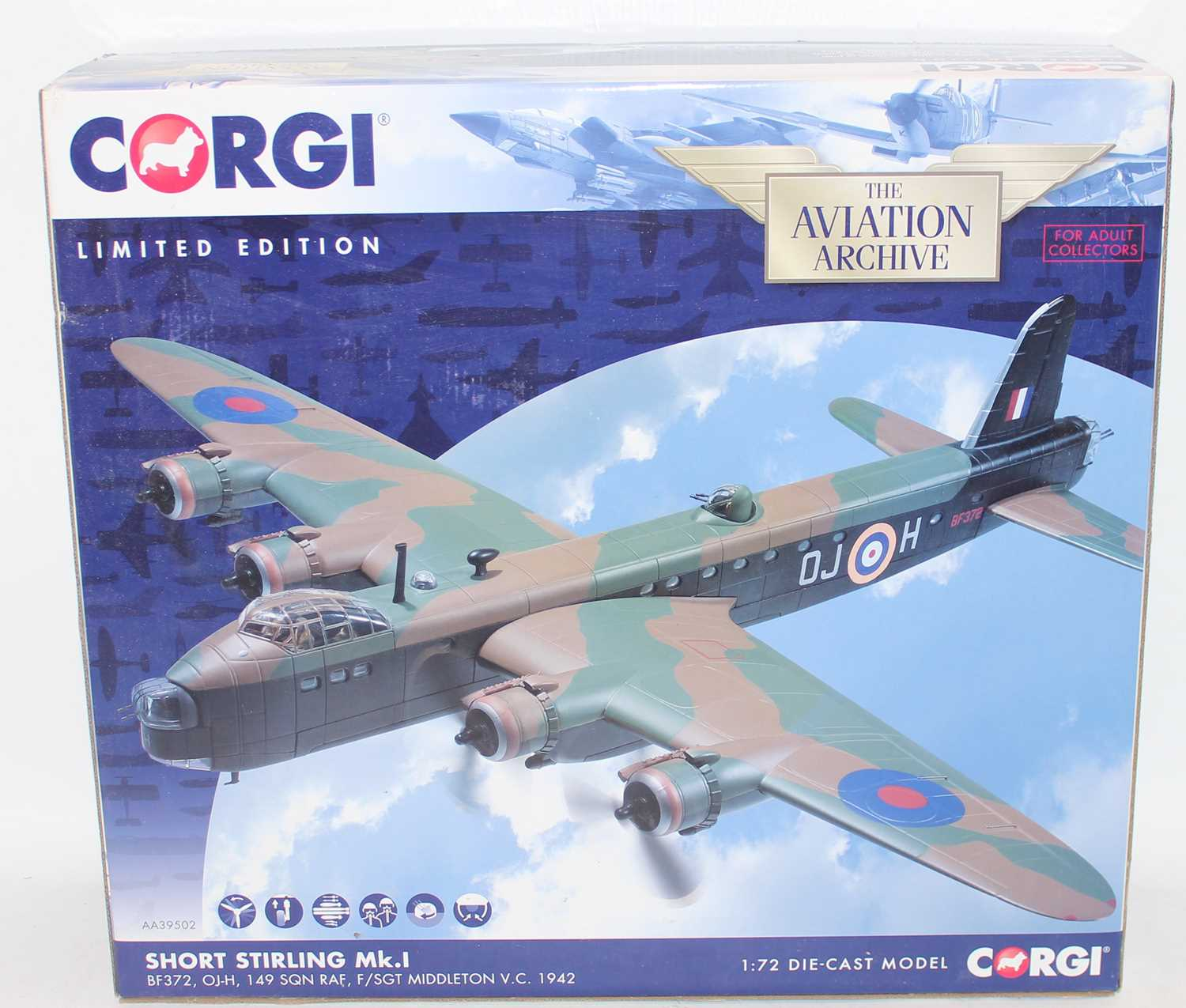 A Corgi Aviation Archive model No. AA39502 limited edition 1/72 scale diecast model of a Short