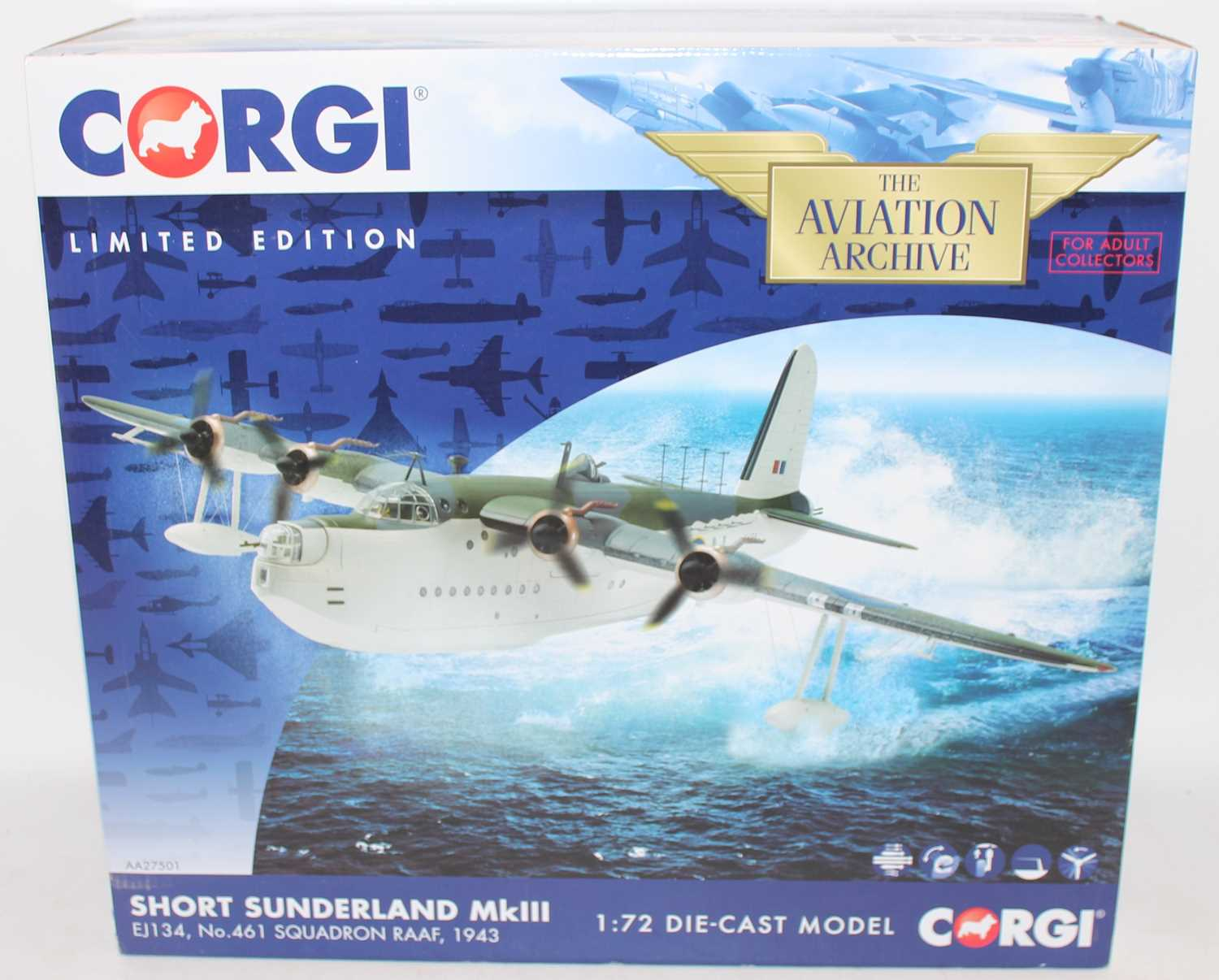 A Corgi Aviation Archive model No. AA27501 1/72 scale limited edition diecast model of a Short