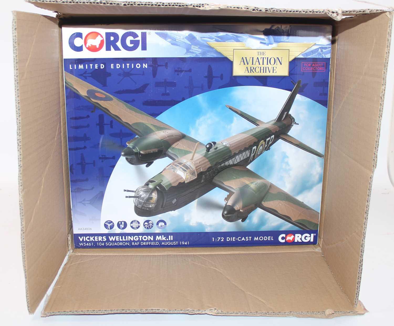 A Corgi Aviation Archive trade box containing two model No.AA34806 1:72 Vickers Wellington MK2 - Image 2 of 2