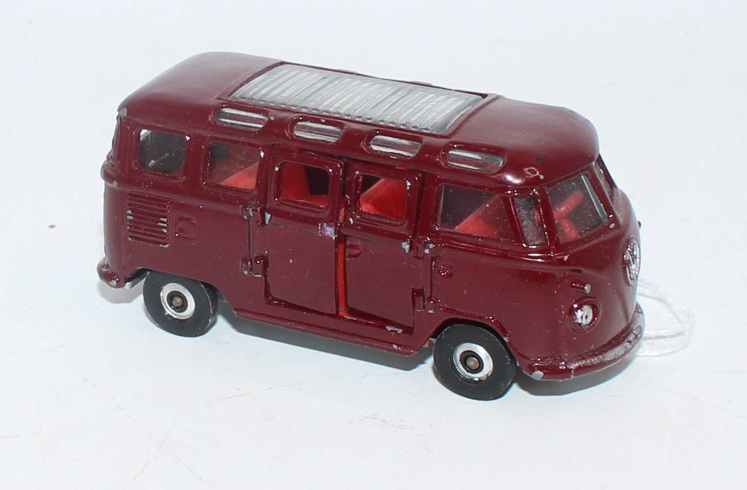 A Lonestar Road-Supercars series 1/59 scale model of a VW Microbus, finished in maroon with silver - Image 2 of 2