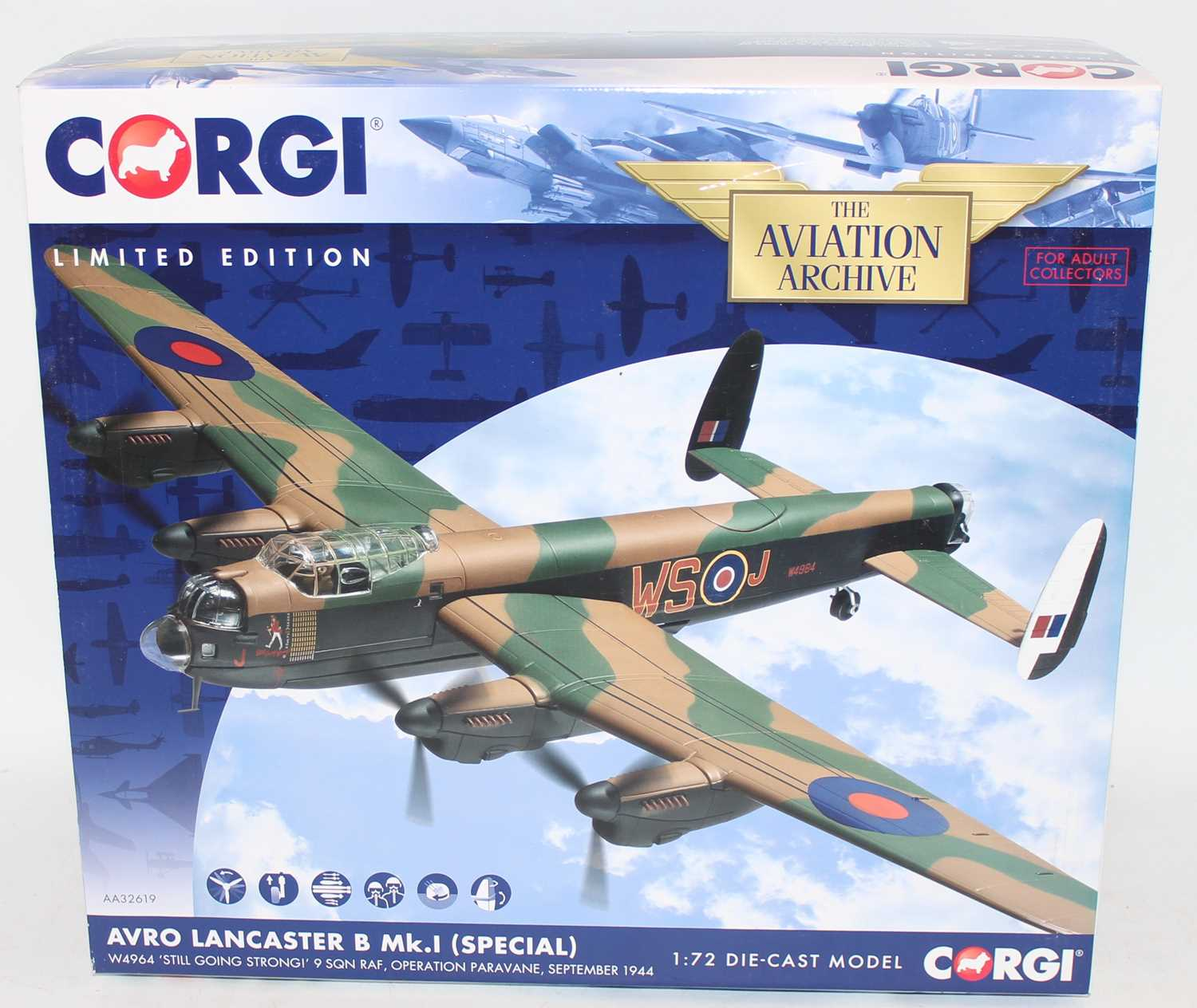 A Corgi Aviation Archive model No. AA32619 1/72 scale limited edition diecast model of an Avro