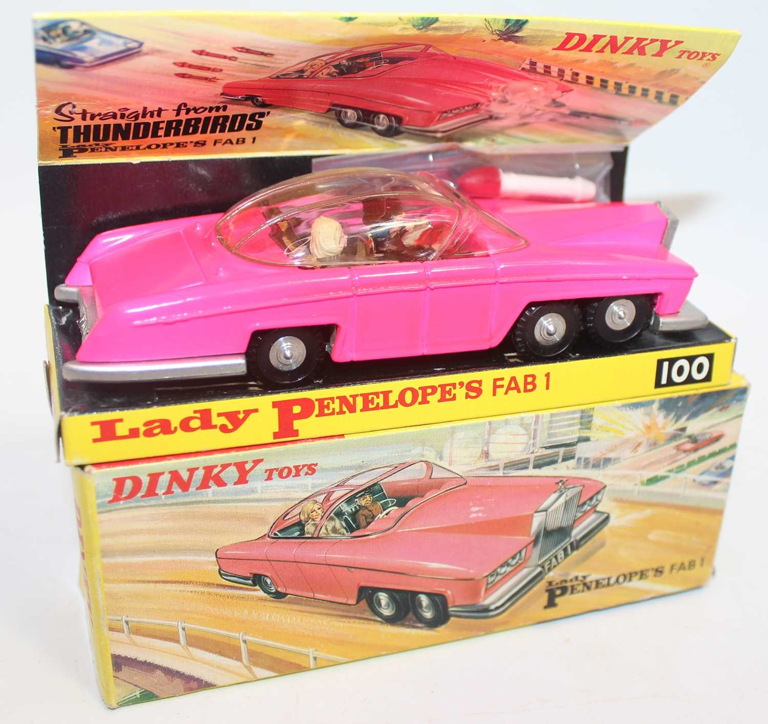 Dinky Toys Boxed 100 Lady Penelopes FAB 1 From TV series 'Thunderbirds' in the rarer fluorescent - Image 2 of 7