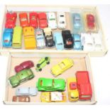 Two trays containing a quantity of various mixed issue Volkswagen related diecasts to include
