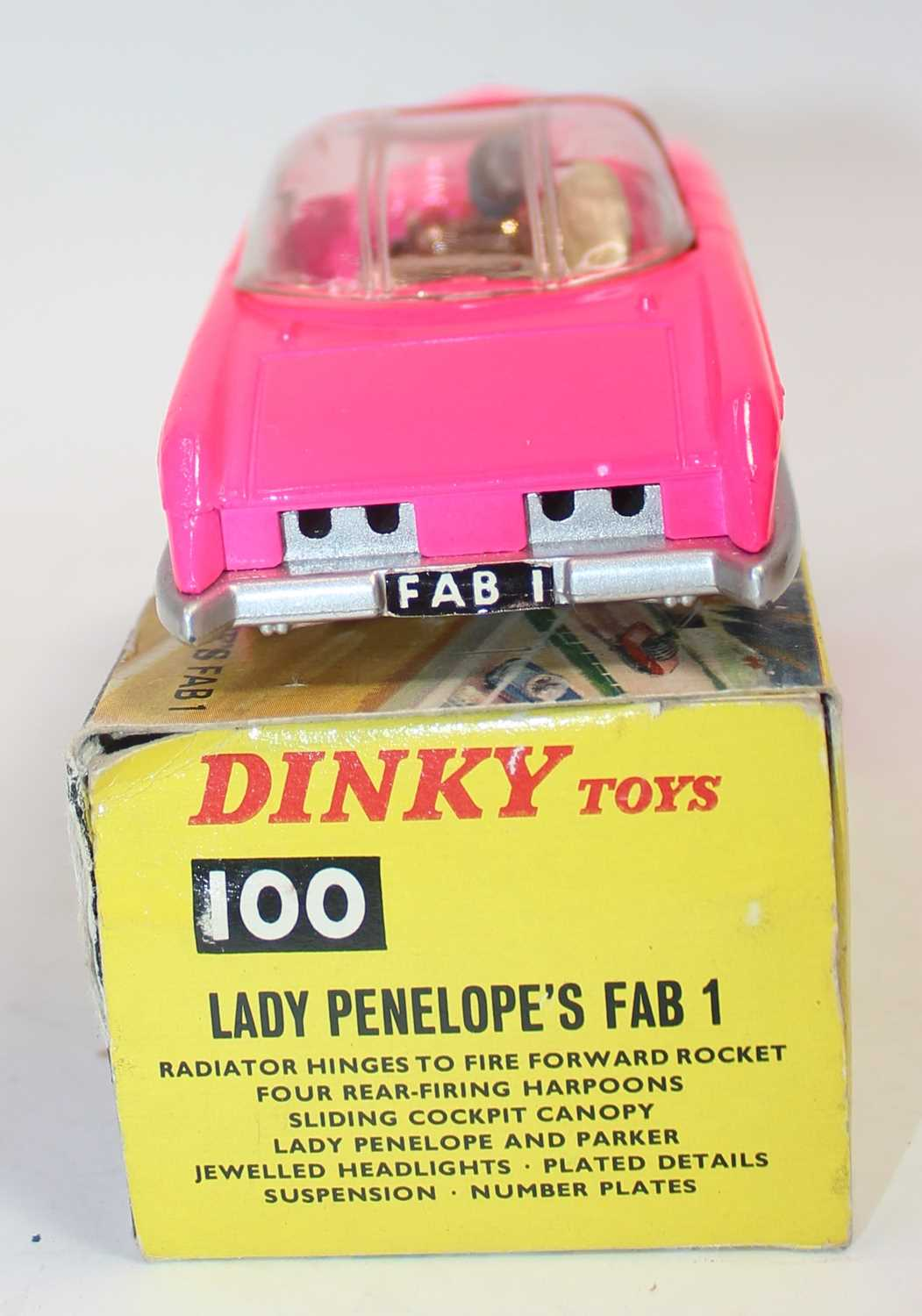 Dinky Toys Boxed 100 Lady Penelopes FAB 1 From TV series 'Thunderbirds' in the rarer fluorescent - Image 4 of 7