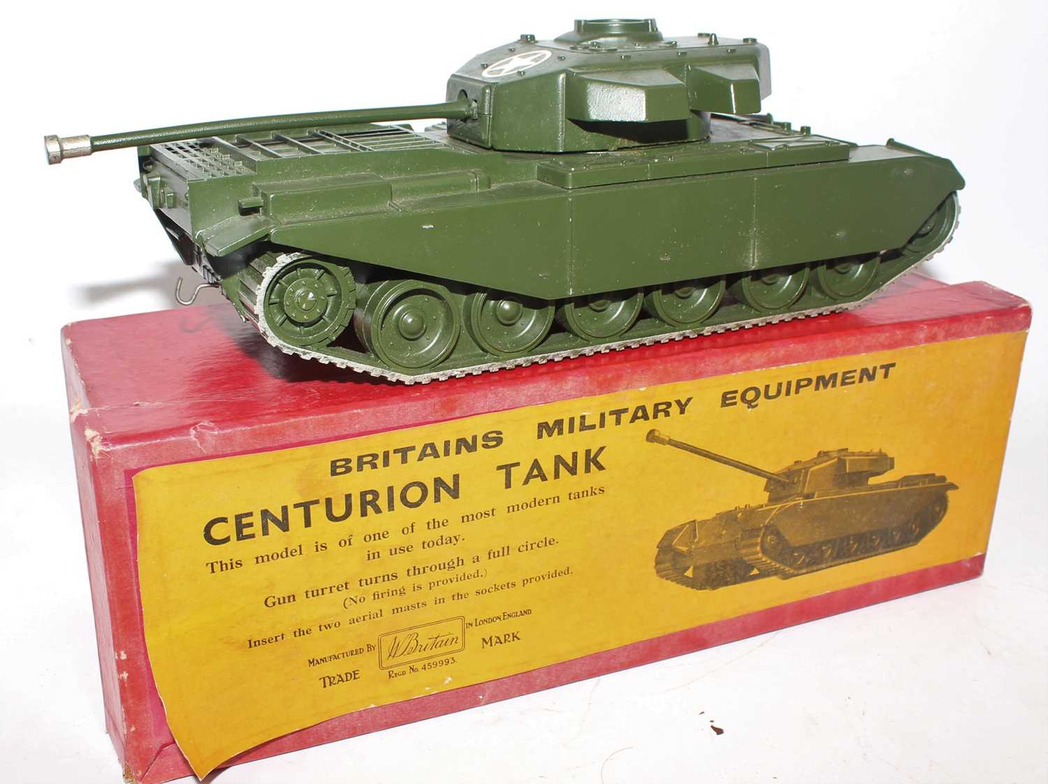 A Britains set No. 2150 Centurion tank comprising of military gloss green body with silver tracks,