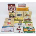 "Corgi Toys, a large quantity of 15 Corgi Classics to include ""Yelloway"" bus set and a ""Grey Green"""