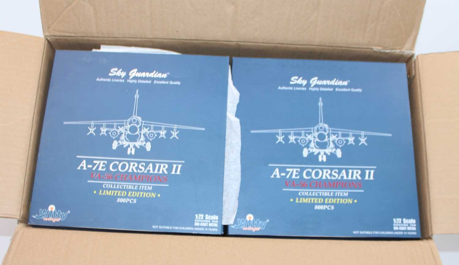 A Sky Guardians/Witty Wings, trade box of six limited edition 1:72 scale A-7E Corsair II VA-56