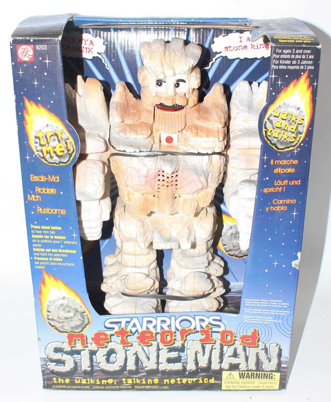 Halsall Toy Company Ltd, Starriors Meteoroid Stoneman Robot, in the original open front card box (