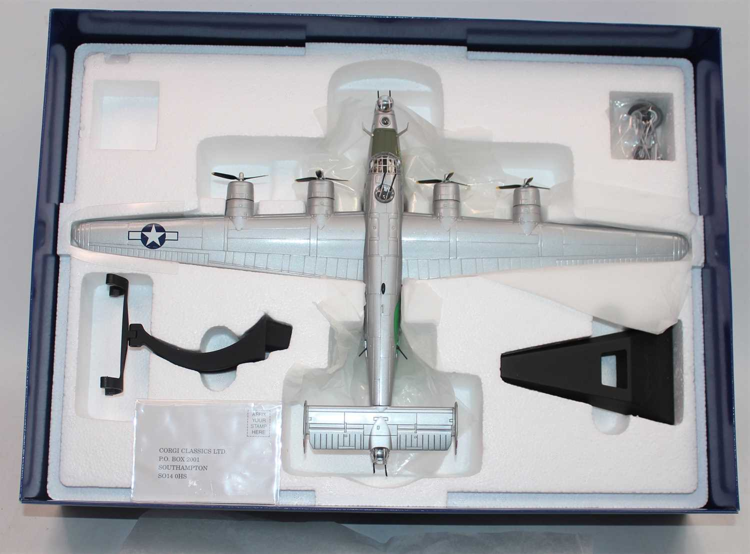 A Corgi Aviation Archive model No. AA34001 1/72 scale diecast model of a Consolidated B-24J - Image 2 of 2