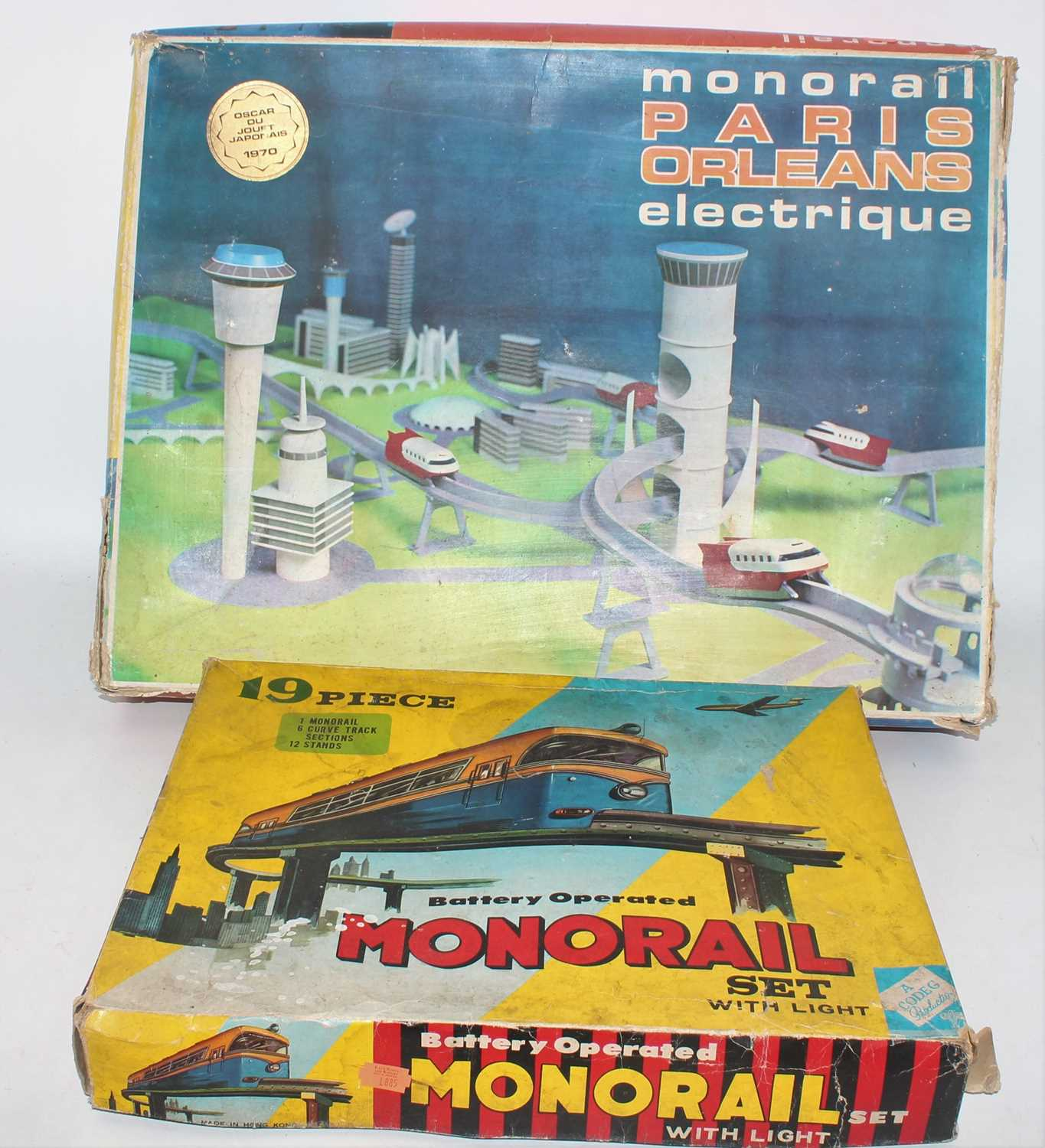 Codeg Boxed Battery operated Monorail set, housed in the original box together with 1970s Paris- - Image 2 of 2