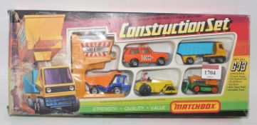 A Matchbox Superfast G-13 construction gift set, housed in the original sliding tray window box,