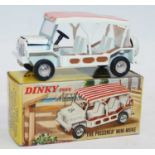 Dinky Toys No.106 The Prisoner Mini Moke with white body with red and white striped stickered