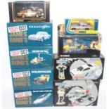 One box containing nine various boxed Corgi James Bond 007 diecast vehicles and accessories, to