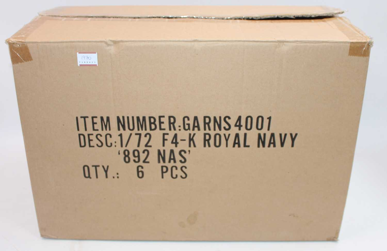 A part complete Gemini Aces trade box containing five of six 1:72 Mcdonald Douglas Phantom FG1 Royal