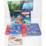 Six items:- IWM construction sets consisting of Sherman tanks, Vulcan bomber and metal kits, Meccano