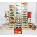 Two boxes containing a quantity of various Matchbox Models of Yesteryear diecasts, mixed singular