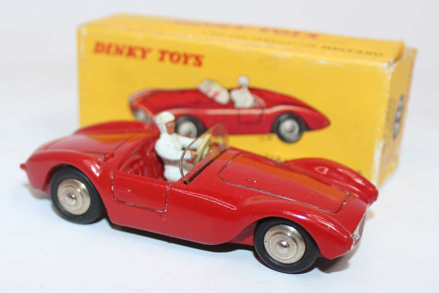 French Dinky Toys No. 22A Maserati Sport 2000 race car comprising of red body with spun hubs and - Image 2 of 2