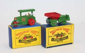 Matchbox group of 2 models boxed as follows: Matchbox No.1 Aveling Barford Diesel Road Roller with