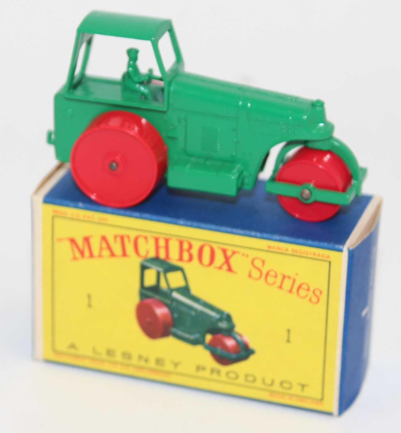 Matchbox, No1 Aveling Barford Diesel road roller, green complete with D box, superb (M-BNM) - Image 2 of 2