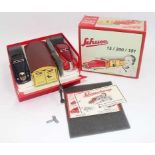Schuco No.01071 Garage and 2 Car Set, housed in the original foam packed box with leaflets (NMM-