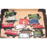 Tray containing Hornby items to include Pre War M3 0-4-0 LNER 460, Postwar 101 0-4-0 LNER 460 (F-G),