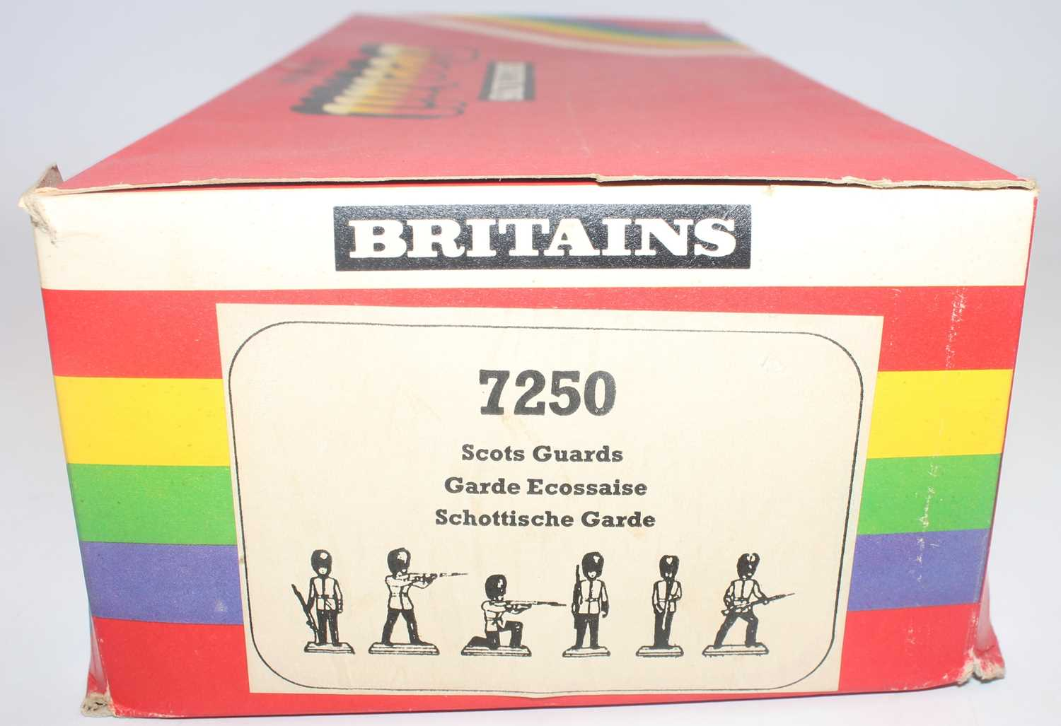A Britains detail no. 7250 shop counter trade box containing a large quantity of Scots Guards - Image 2 of 3
