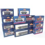 12 various Bachmann 00 gauge wagons, some examples housed in associated boxes, but examples