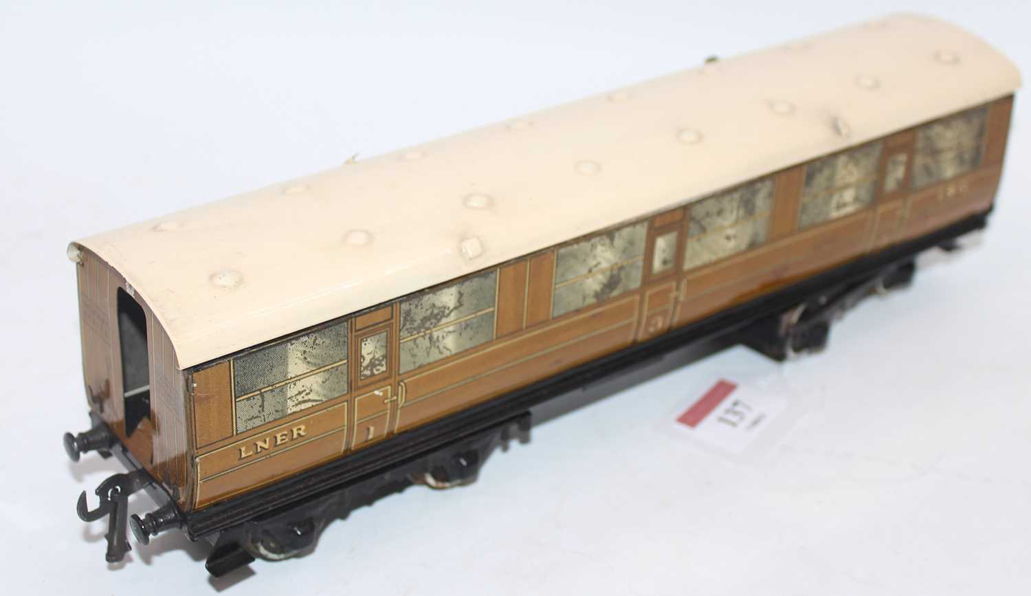 1937-41 Hornby no. 2 corridor coach NE 1st/3rd, a few marks and some deterioration to silvering, - Image 2 of 2