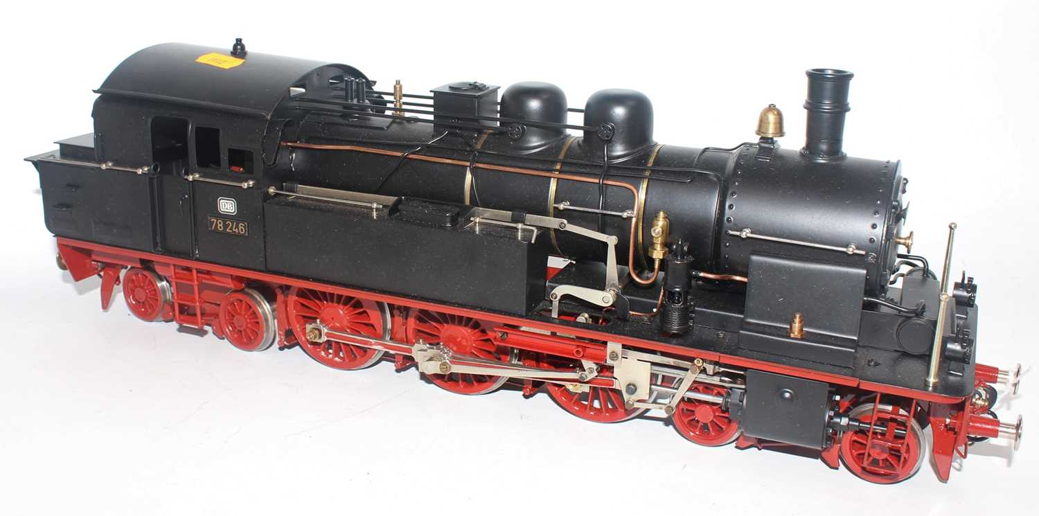 Unidentified make Gauge 1 4-6-4 steam outline model DB78246 powered by electric motor. Body black - Image 2 of 3