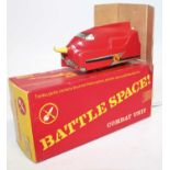 Triang R752 Battle Space Turbo car, red with yellow rubber spike (M-BM)