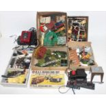 A large lidded plastic crate containing items from a modeller's workshop. Includes approx 30